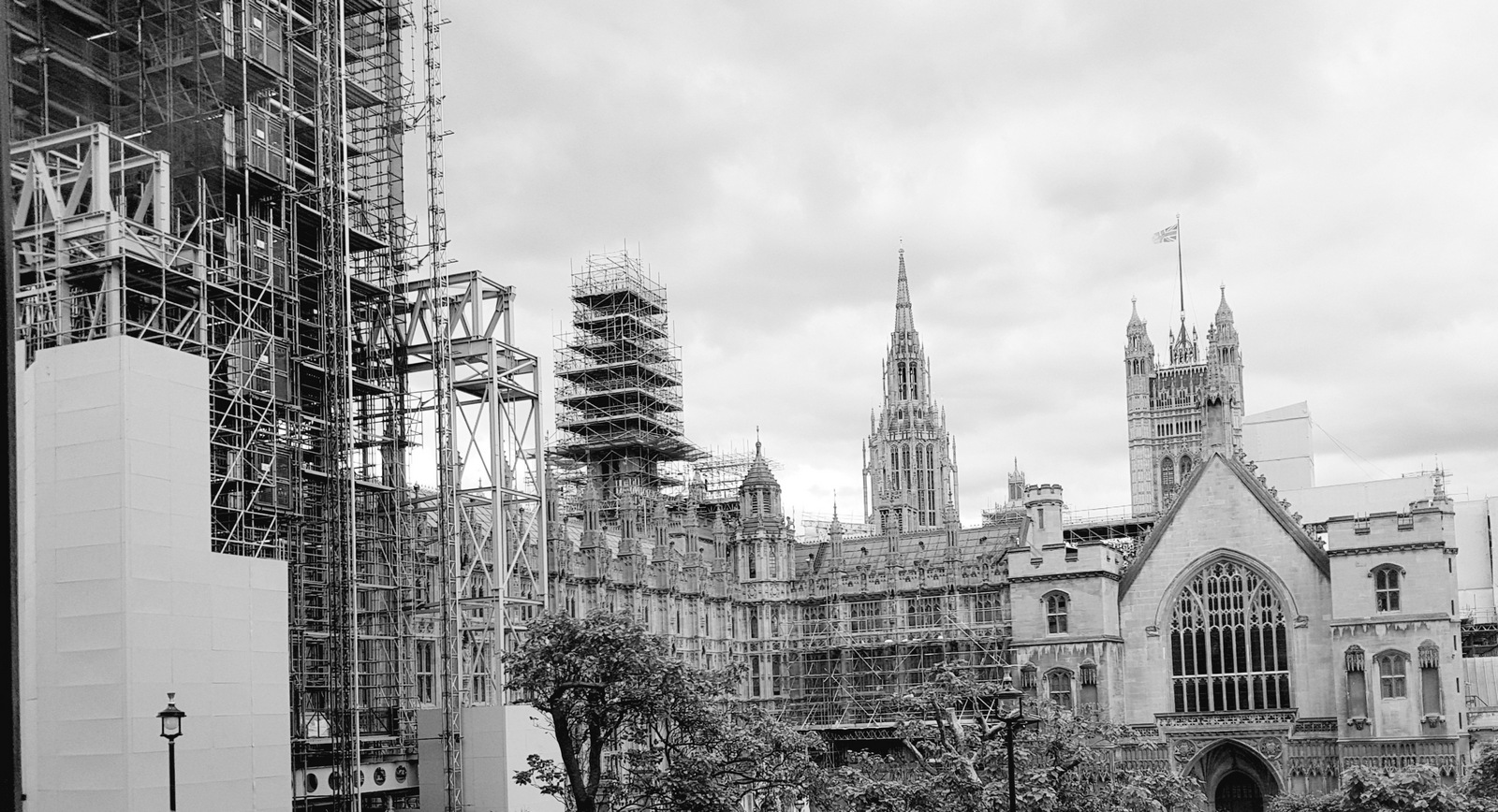 Photo by me - the Palace of Westminster from Portcullis House, June 2018